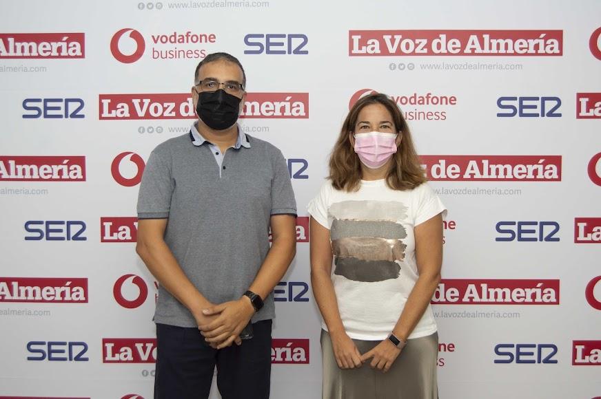 Francisco Ayala Sánchez, responsable de sistemas de Veinsur; Alicia Cañada Sánchez, directora de innovación del Pita.