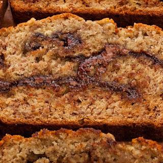 Roasted Banana–Nutella Quick Bread