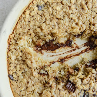 Dark Chocolate Chunk Cheesecake Baked Oatmeal