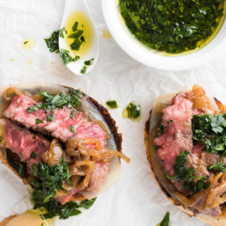 Mini Opened-Faced Steak Sandwiches