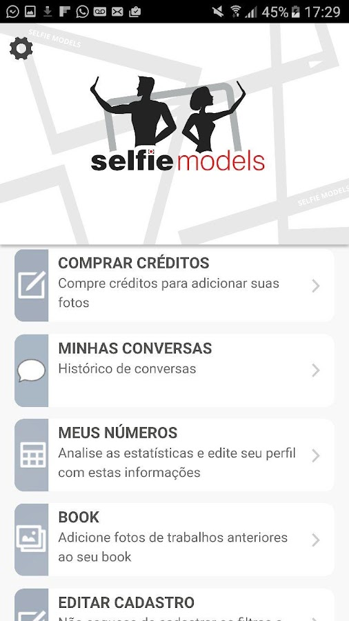 SelfieModels- screenshot