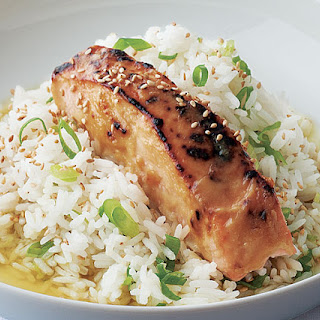 Miso-Glazed Salmon with Green Tea Rice