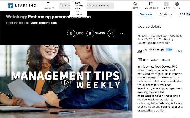 LinkedIn Learning Ratings