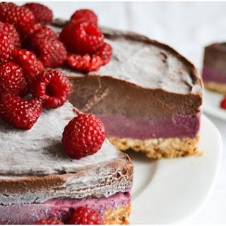 Birthday Layer Cake with Ice Cream & Avocado-Chocolate Mousse.