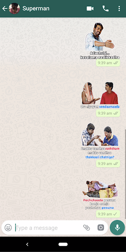 Tamil Stickers for WhatsApp (WAStickerApp) - screenshot