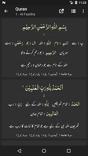 Quran Word By Word & Urdu Translations screenshots 8