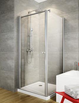 Porte de douche pivotante pour paroi latérale pivotante