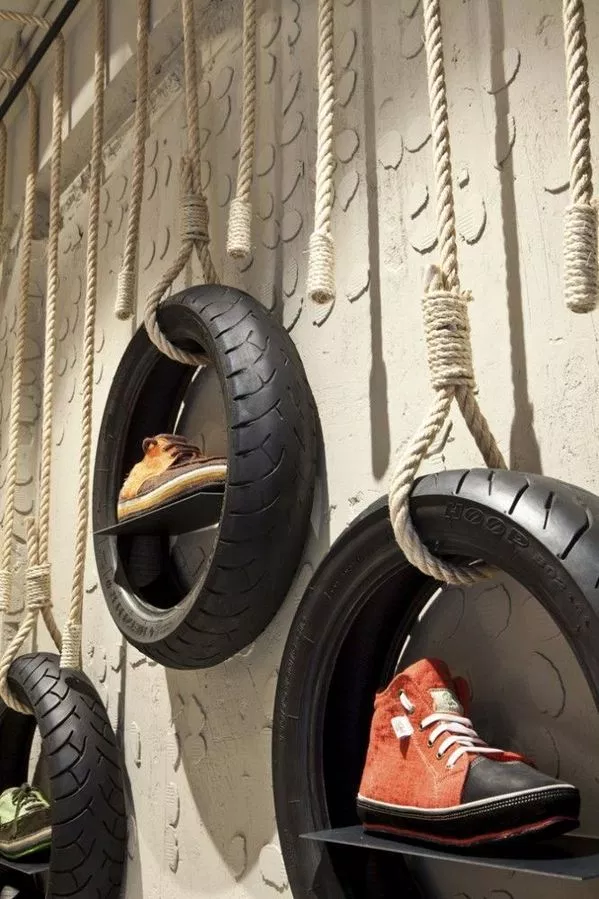 hanging tires for stores