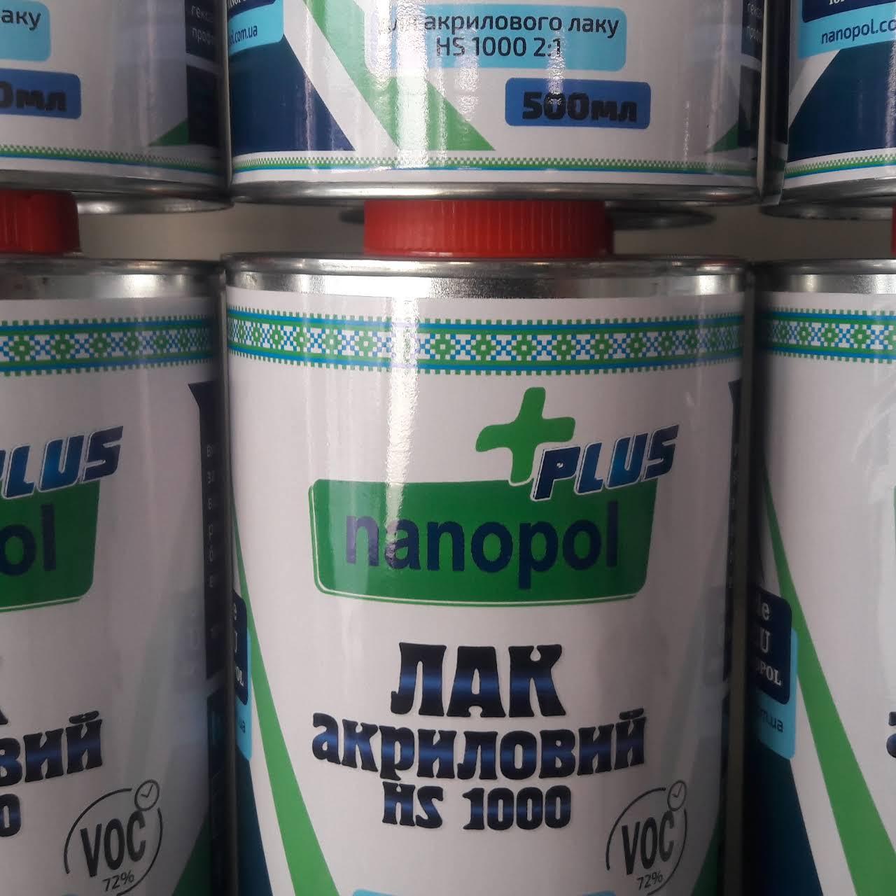 Лак акриловий Nanopol Plus HS 1000