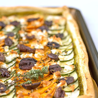 Sweet Potato, Courgette and Feta Tart Recipe