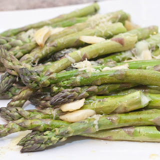 Garlic and Gruyere Roasted Asparagus