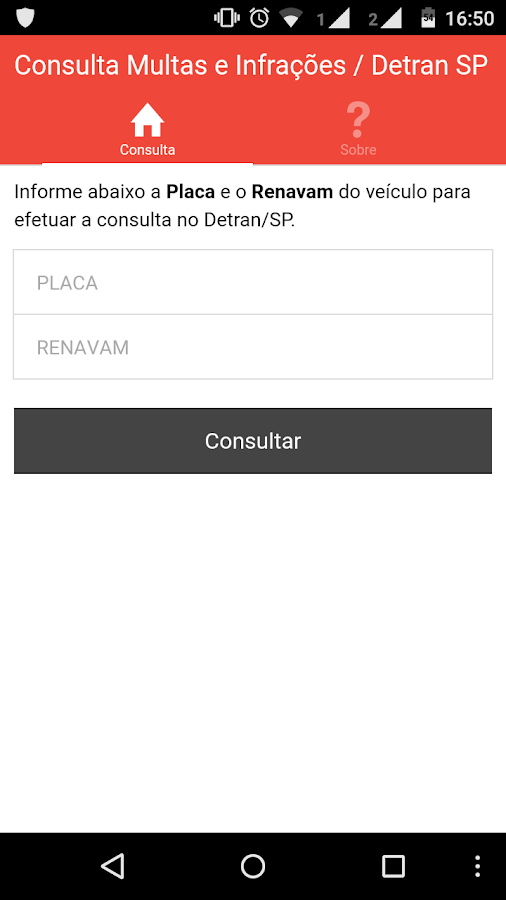 Multas e Restrições - SP- screenshot