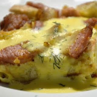 Overnight Eggs Benedict Casserole.