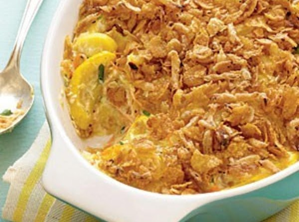 Squash Casserole With French Onion Topping Recipe