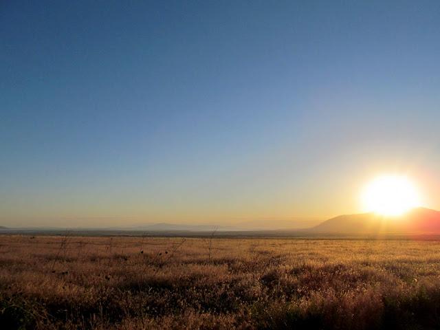 Sunrise over the Oquirrhs