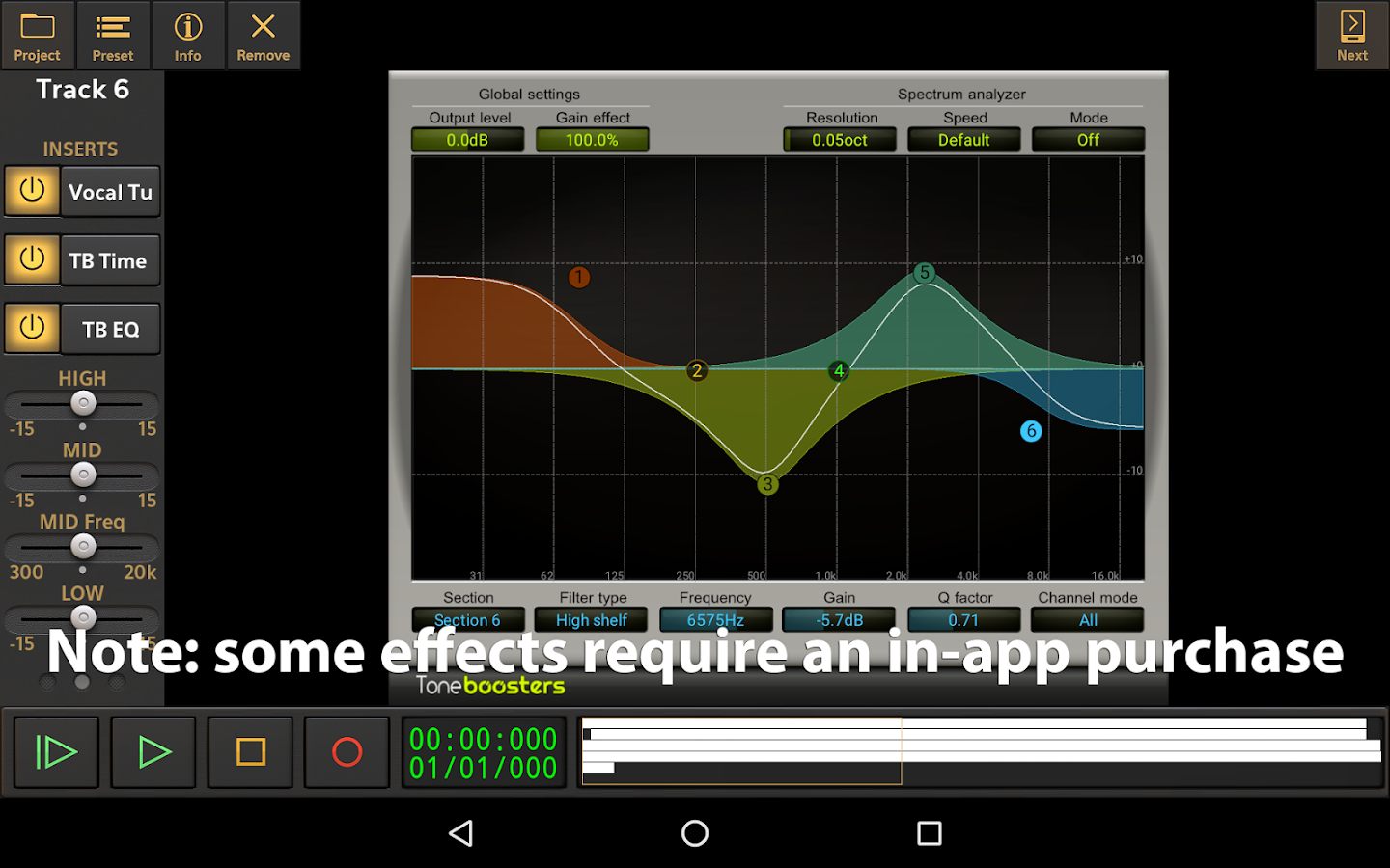 Audio Evolution Mobile DEMO: captura de pantalla