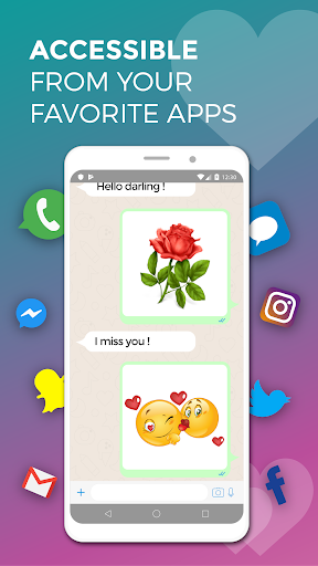 WhatsLov: love stickers, emoji, gif. WAStickerApps screenshot
