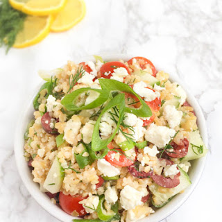 Bulgur Wheat Greek Salad.