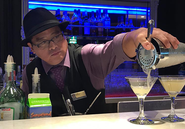 Don whips up a Yuzu Margarita.