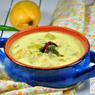 Mampazha Kalan and Vishu kanji/ Ripe mango yogurt gravy and Rice porridge with coconut milk.