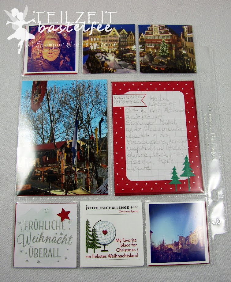 Stampin' Up! – In{k}spire_me, Christmas, Weihnachten, Project Life, Hello December 2016, Tin of Tags, Drauf und Dran, Journal