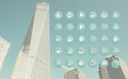 清新城市 桌面主题
