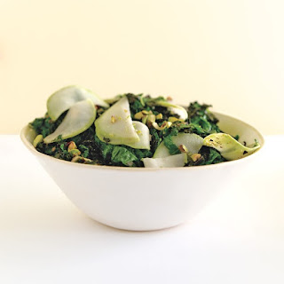 Sautéed Kale with Kohlrabi.