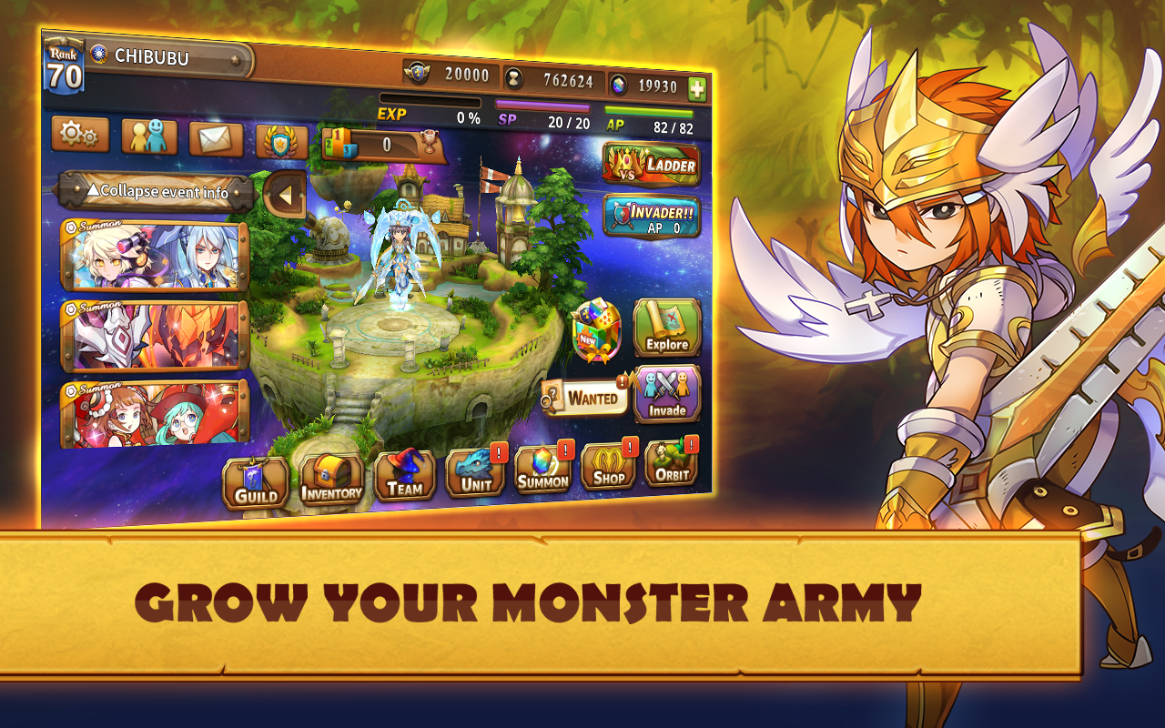 Orbit Legends: Summon Monsters- screenshot
