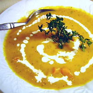 West Indian Pumpkin and Yam Soup.
