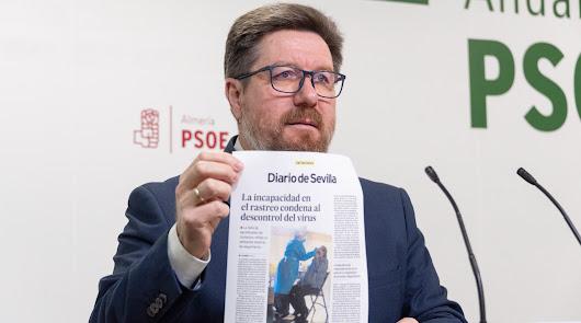 El PSOE pide a Moreno más personal, test y rastreadores frente al covid