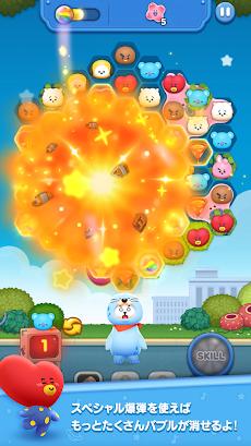 LINE ハローBT21 BT21顔のバブルがパンパン!爽快パズルゲーム!のおすすめ画像4