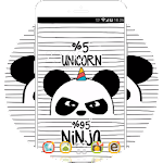 Black and Whtie Theme: Panda HD Wallpaper Android Icon