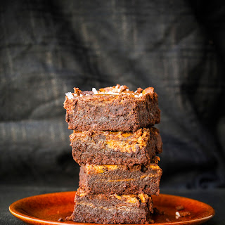 Salted Milk Caramel Fudge Brownies