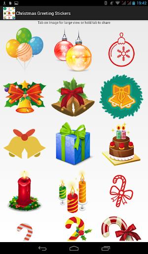 Christmas Greeting Stickers
