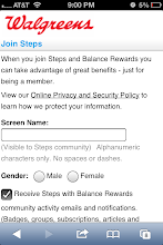 Photo: Sign in with the Balance Rewards and then create a Steps account.