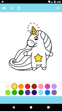 Unicorn Coloring Book APK screenshot thumbnail 11