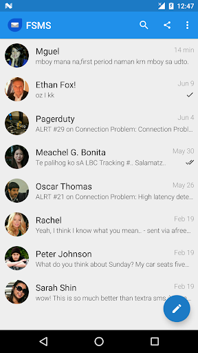 FSMS - SMS, MMS & Free Text To Philippines 6.1.3 screenshots 1