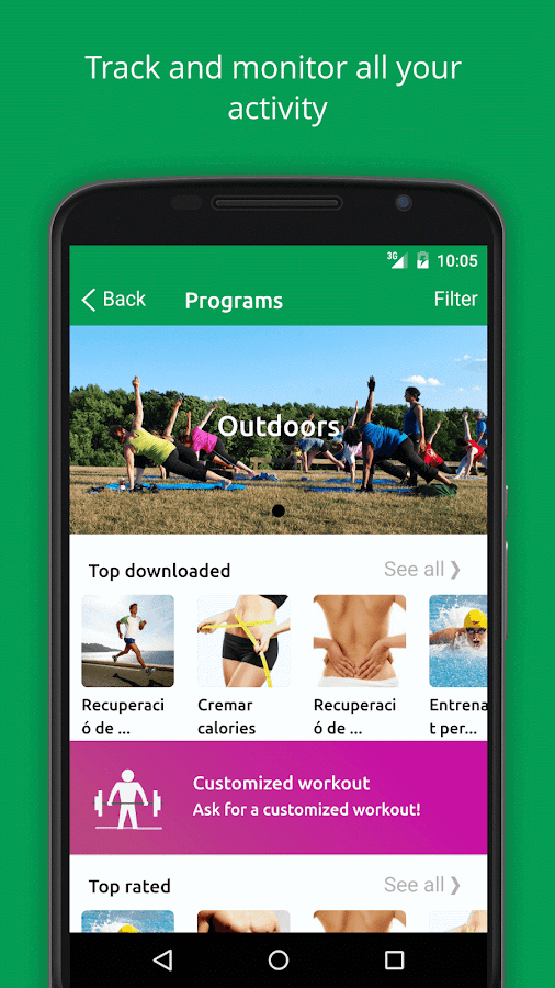 myBeweeg Trainers and Workouts- screenshot