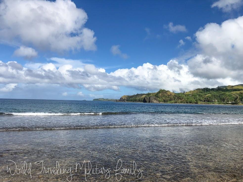 Umatac beach sea glass Guam