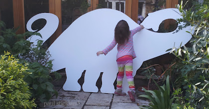 Photo: There's another dinosaur in the garden... Another dinosaur to colour in at Storyfest.co.uk