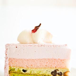 Cherry Blossom & Matcha Adzuki Layer Cake (Entremet)