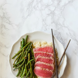 Bumble Bee SuperFresh® Seared Ahi Tuna and Ginger Garlic Roasted Green Beans