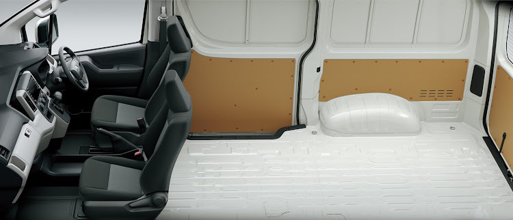 the panel van side aperture is wide enough to allow fitment of euro size pallets