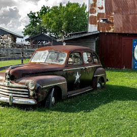 too the moon by Dougetta Nuneviller - Transportation Automobiles ( clunker, car, classic car, junker, vintage, automobile, hotrod, transportation, classic )