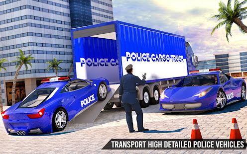 Download US Police Transporter Truck: Car Driving Games For PC Windows and Mac apk screenshot 3