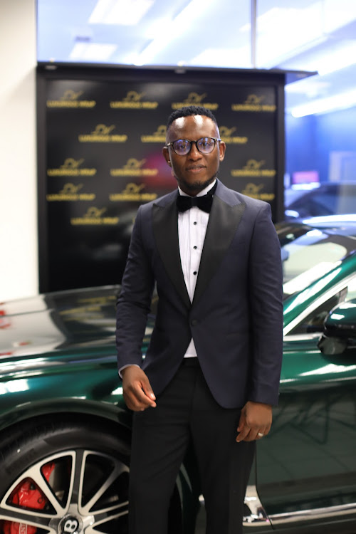 Paul Maleke at the opening of the new premises of Luxury Wraps. Picture: Phuti Mpyane