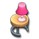ピンクランプテーブル