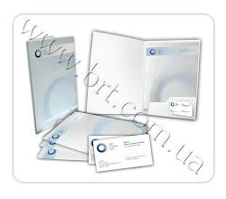 Photo: Папки, фірмові бланки, візитки для УкрТунельБуд. Розробка дизайну, друк.