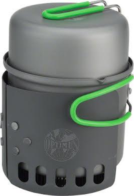 Optimus Elektra FE Camp Stove - Green, Includes Pot and Windscreen alternate image 1
