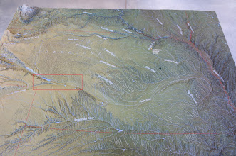Photo: The area we explored is within the red rectangle, through which both forks of the Platte River flow.